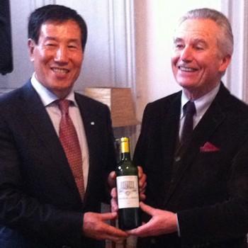 Chen Miaolin celebrates as Château de Birot's new owner.