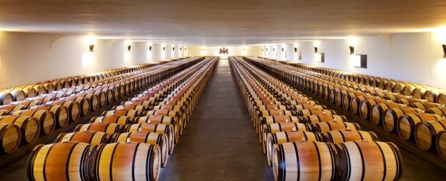 Mouton Rothschild's barrel hall