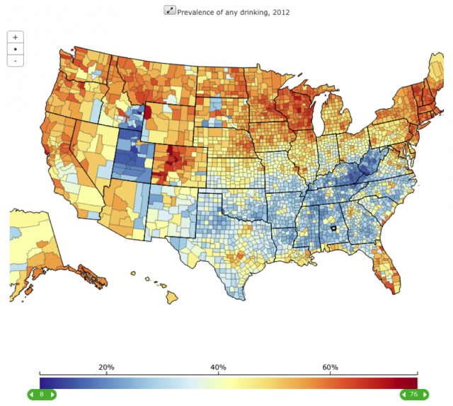America's Heaviest Counties Drinking Mapped