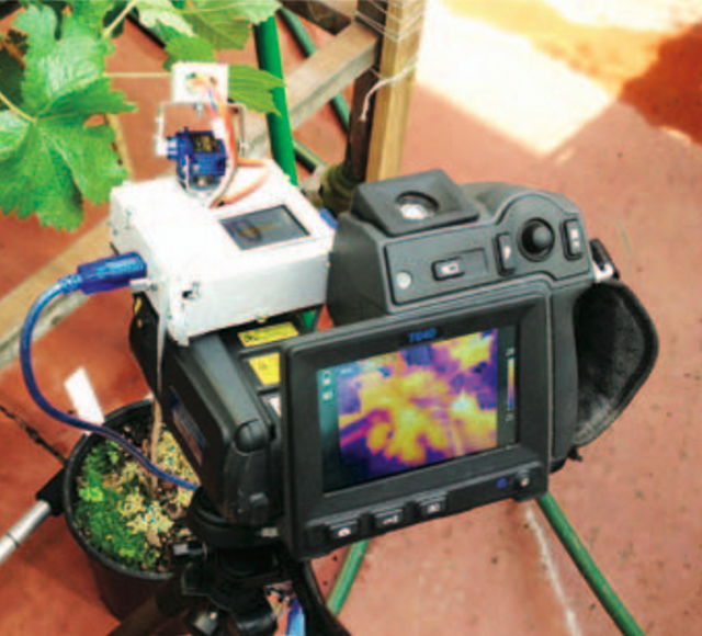An infra-red camera that can be used to measure grape quality