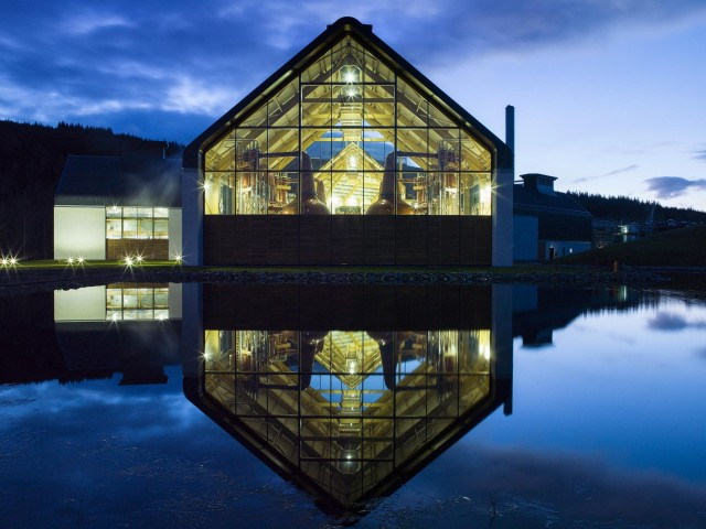 Dalmunach Distillery External Night