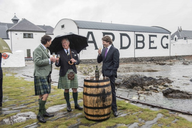 HRH The Prince Charles, Duke of Rothesay at the Ardbeg Distillery (1)
