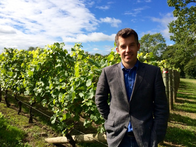 Brad Greatrix of Nyetimber, which came second in the tasting