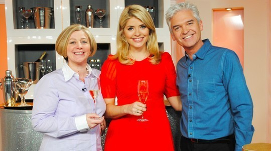 Jayne Powell (left), pictured in an appearance on This Morning with Holly Willoughby and Phillip Schofield (Photo: ITV)