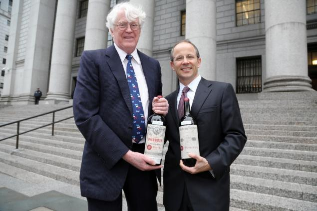 Bill Koch and his lawyer before the start of the original trial in 2013. Photo credit: Jefferson Siegel