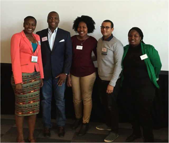 The Apprentice seminar panel, L-R: Phelisa Moni, Matome Mbatha, Pamla Makhanda, Henrich Kulsen, Praisy Diamini