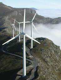 Wind turbines in the Douro