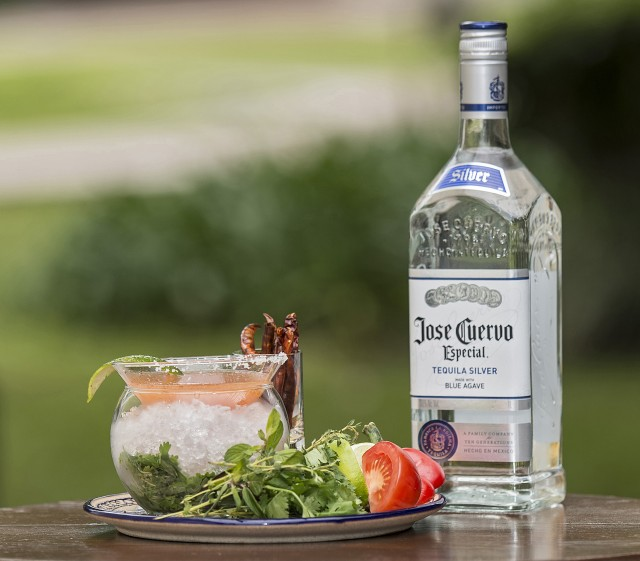 Jose Cuervo Dons of Tequila 2015 winner Koji Esashi's finale cocktail, which featured tomato, herbs and chilli along with Jose Cuervo Especial Silver (Photo: Jose Cuervo)