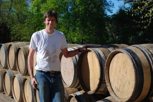 Flint Vineyard winemaker Ben Witchell will use a £23k grant to conduct fermentation trials with the aim of optimising the aroma and flavour profile of the winery's Bacchus grapes (Photo: Flint)