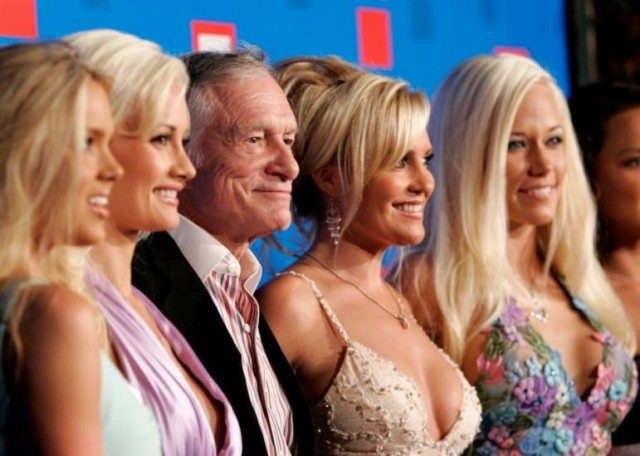 Playboy founder, Hugh Heffner is oft seen with his array of bunny girls
