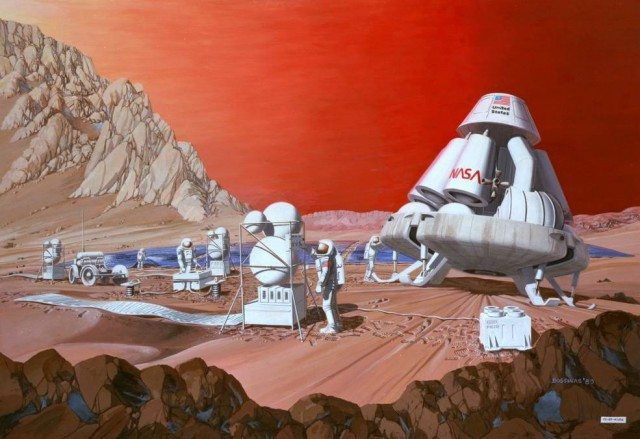 Pioneer Energy's system is based on technology designed to help future missions to Mars use resources on the Red Planet to manufacture fuel, oxygen and other crucial substances for the trip home (Photo: Nasa)