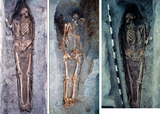 Three of the skeletons from the cemetary. photo credit: professor Varney