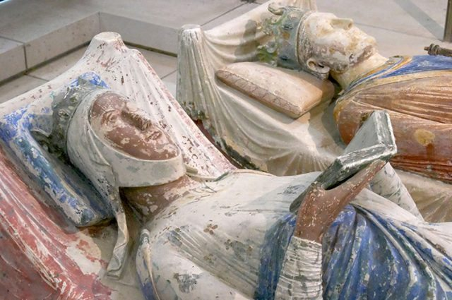 The effigies of Eleanor and Henry at Fontevraud Abbey