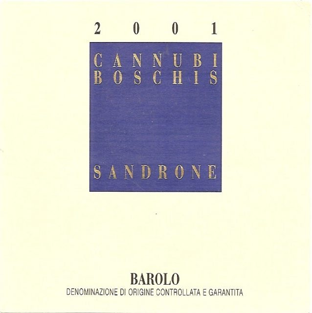Barolo Cannubi Boschis 2001, Luciano Sandrone