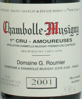 Chambolle-Musigny Premier Cru Les Amoureuses 2001
