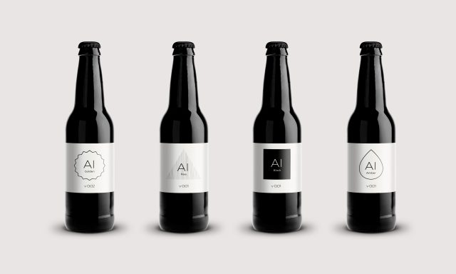 The four IntelligentX beers available at launch