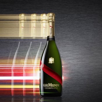 Champagne Mumm Grand Cordon key visual vertical