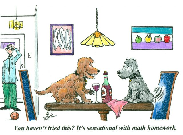 Four new wine cartoons by Doug Pike
