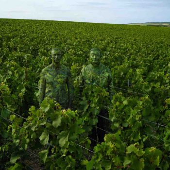 Camouflage artist plays hide and seek at Ruinart