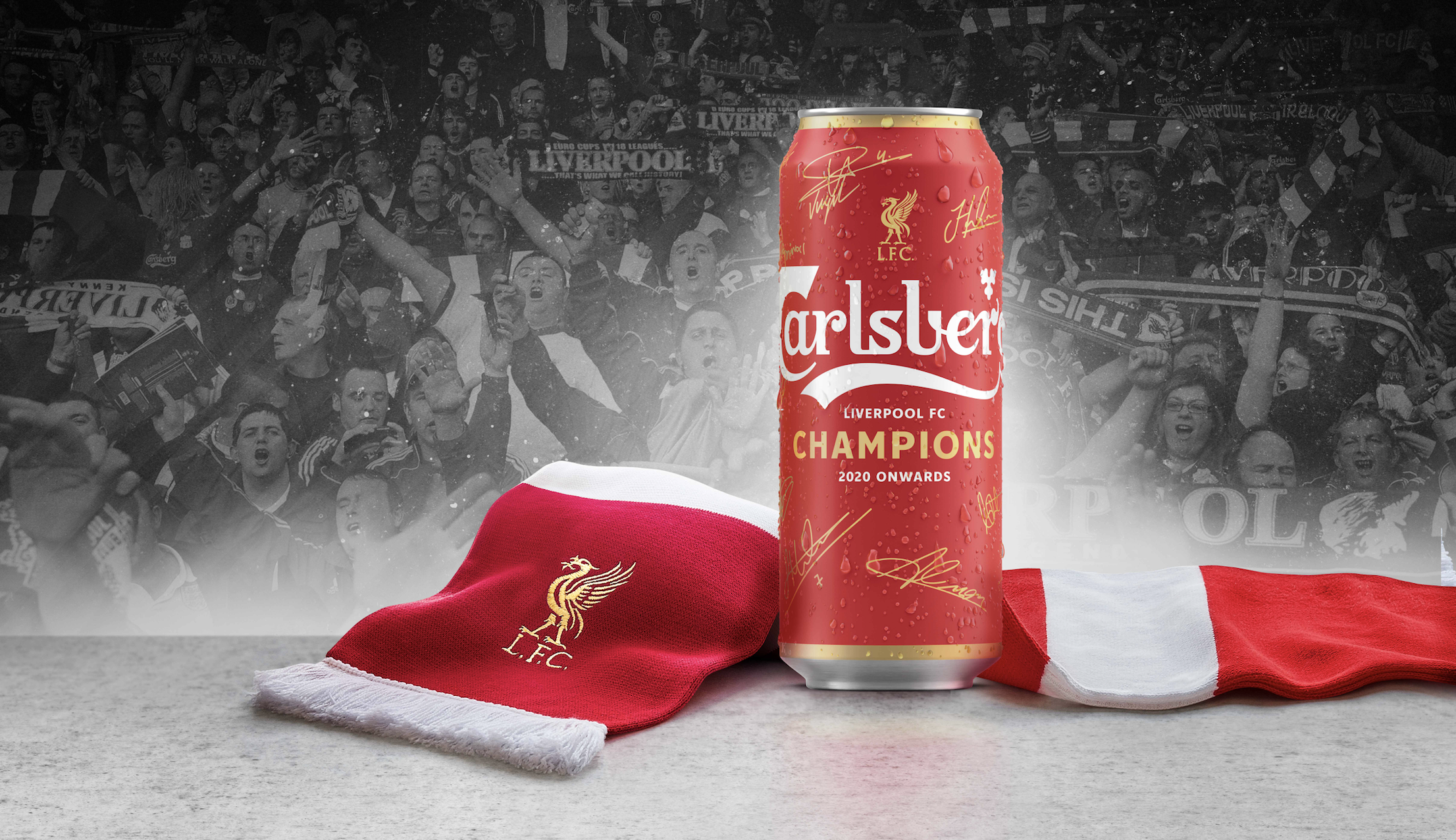 carlsberg launches red beer can for liverpool fc win carlsberg launches red beer can for