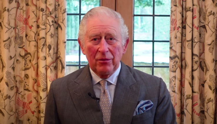 Prince Charles delivers a speech to the hospitality industry