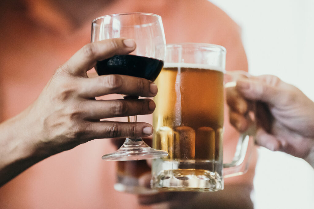 Beer and wine calories