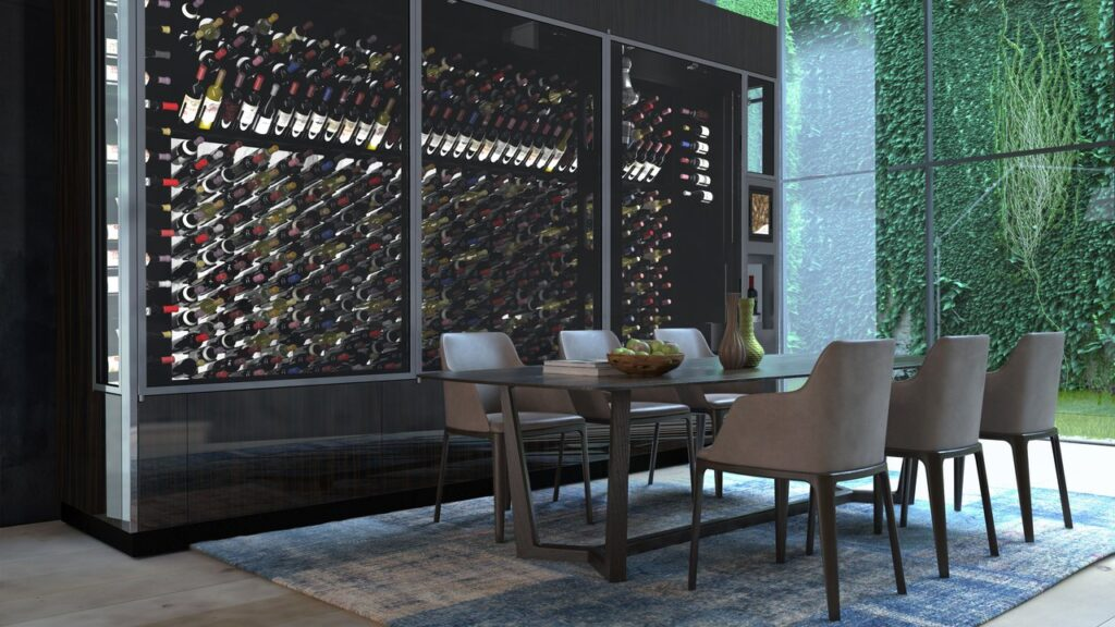 WineCab's wine wall with virtual sommelier
