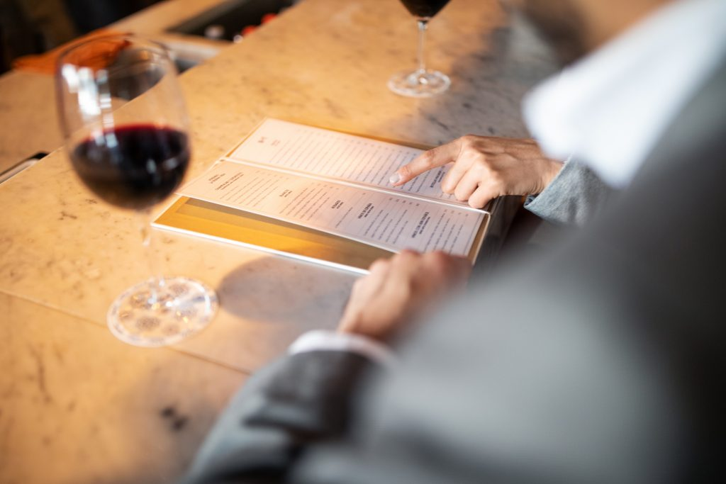second cheapest wine on the menu