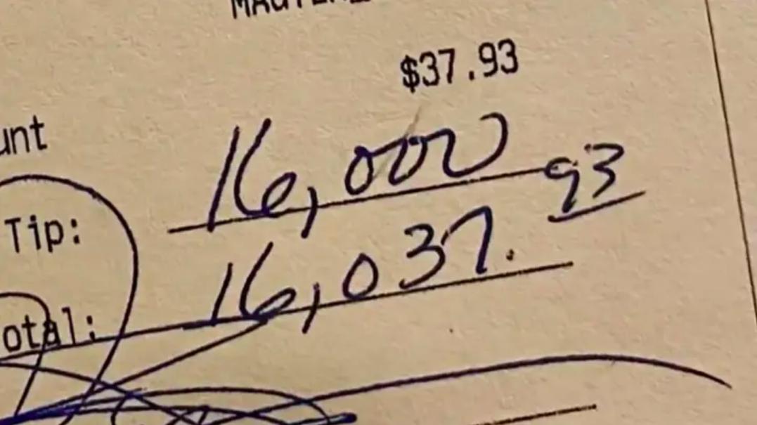 Mystery man leaves huge tip