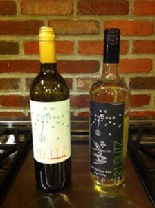 Bottles of Victor Green's Blitz 21 wine