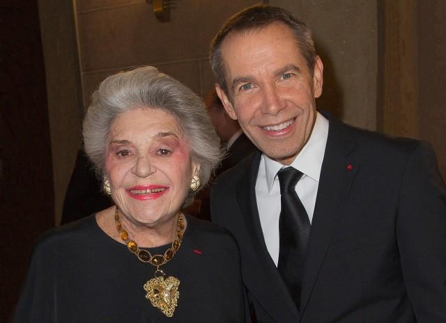 Baroness Philippine de Rothschild and Jeff Koons. Credit: Bertrand Rindoff-Petroff