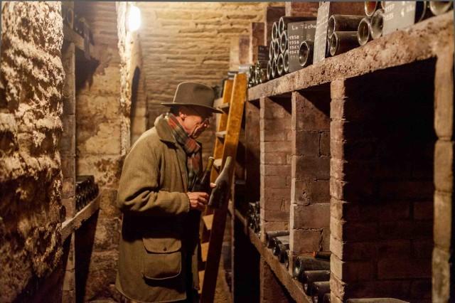 Aubert de Villaine in the cellars