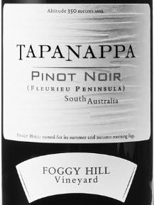Tapanappa foggy hill Pinot Noir
