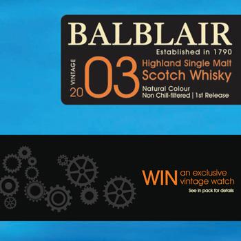 Balblair vintage watch promo