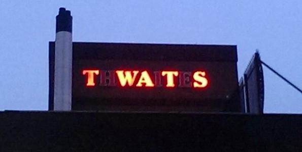 thwaites-twat-sign