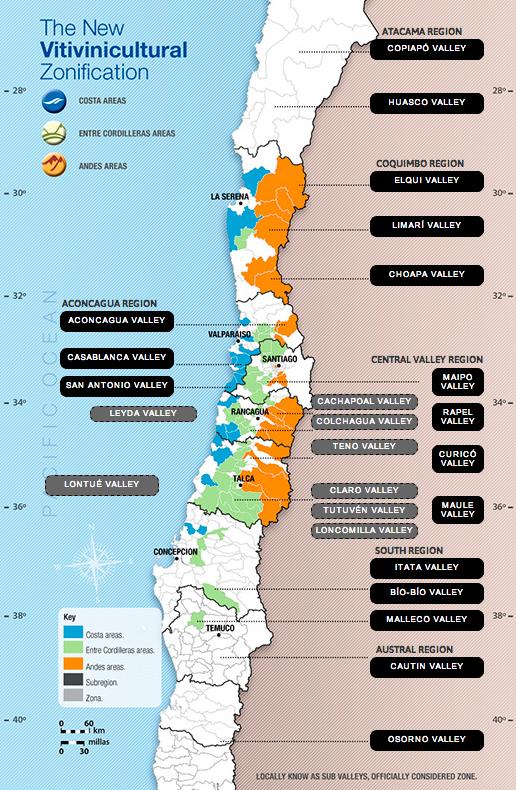Chile wine regions