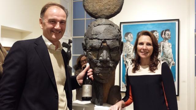 Adrian & Vanessa Vanderspuy of Oldenburg Vineyards Banghoek Valley Stellenbosch at the 1 54 Contemporary African Art Fair 2015